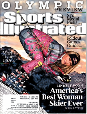 Lindsey Vonn autographed 2010 Winter Olympics Sports Illustrated preview issue