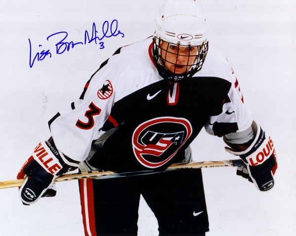 Lisa Brown-Miller autographed 1998 USA Women's Hockey Team 8x10 photo