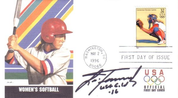 Lisa Fernandez autographed softball 1996 U.S. Olympic Team USPS Olympic First Day Cover