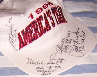 USA Softball stars autographed 1996 U.S. Olympic Team cap or hat (Lisa Fernandez Michele Smith)