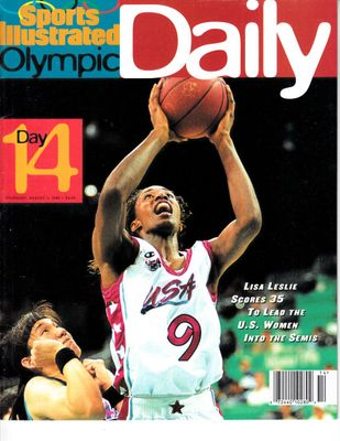 Lisa Leslie USA Women's Basketball 1996 Sports Illustrated Olympic Daily magazine