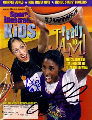 Lisa Leslie and Rebecca Lobo autographed 1997 Sports Illustrated for Kids magazine
