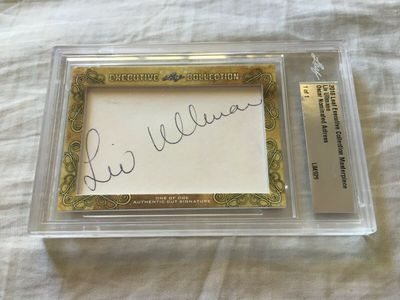 Liv Ullmann 2018 Leaf Masterpiece Cut Signature certified autograph card 1/1 JSA