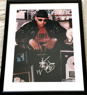 LL Cool J autographed 16x20 inch poster size photo matted and framed