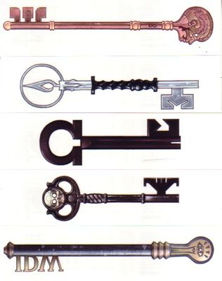 Locke and Key IDW set of 5 promo temporary tattoos