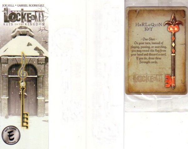 Locke and Key IDW 2012 Wondercon Harlequin key promo trading card and bookmark