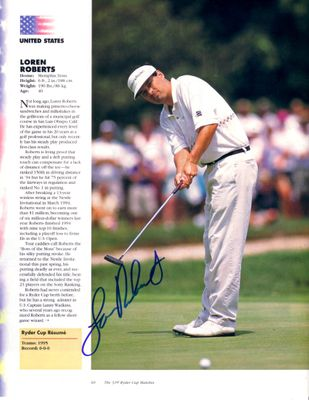 Loren Roberts autographed full page golf magazine photo