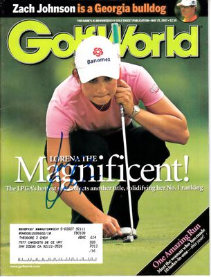 Lorena Ochoa autographed 2007 Golf World magazine
