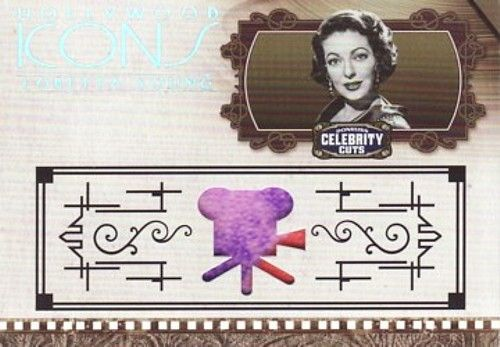 Loretta Young worn clothing swatch 2008 Donruss Americana Hollywood Icons card #20/100