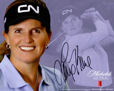 Lorie Kane autographed LPGA 8x10 photo card