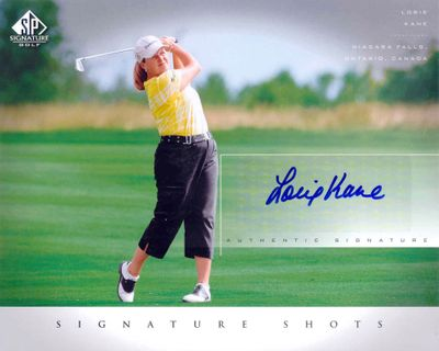 Lorie Kane certified autograph 2004 SP Signature 8x10 photo card