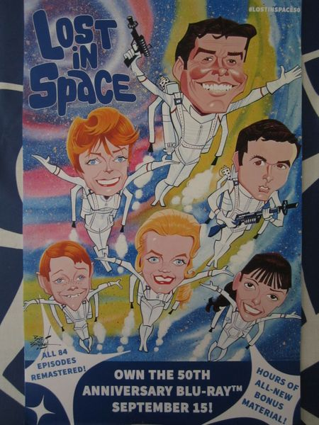 Lost in Space 50th Anniversary Blu-Ray 2015 San Diego Comic-Con mini promo poster