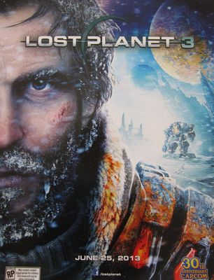 Lost Planet 3 video game CAPCOM promo 18x24 poster MINT