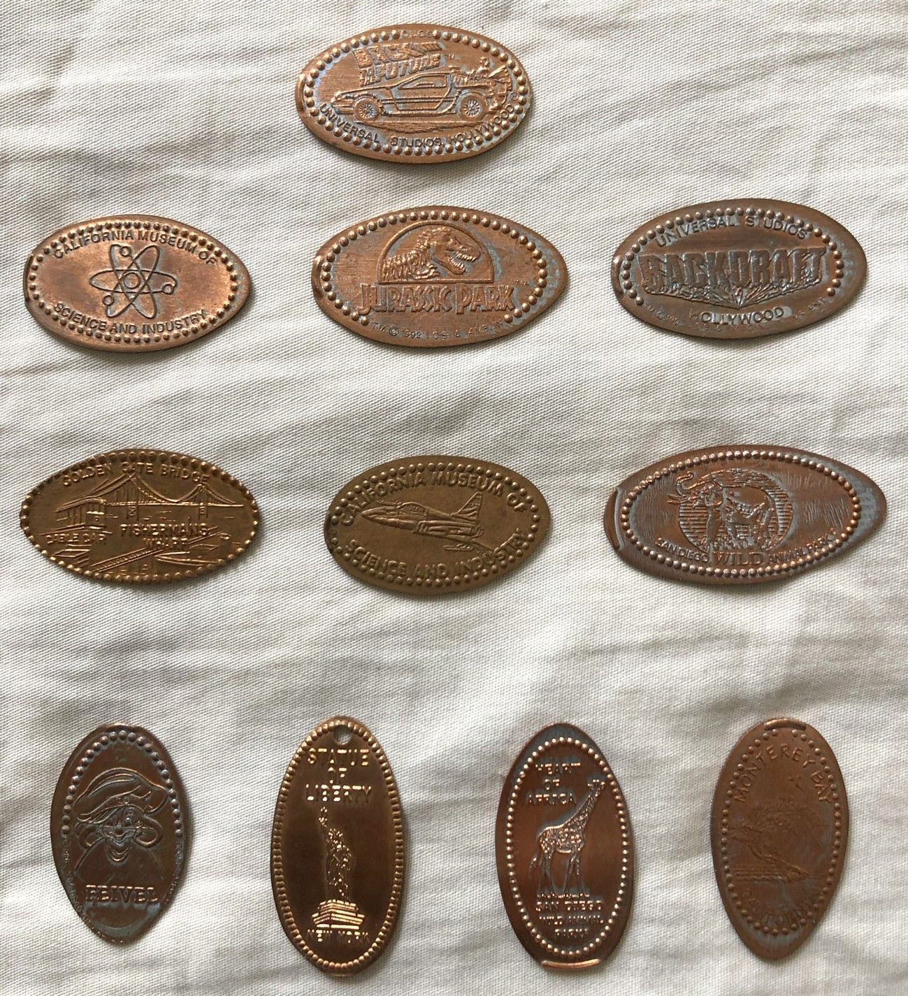 Lot of 4 2009 Los Angeles Angels of Anaheim Pressed Copper Pennies