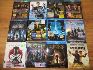 Lot of 12 Blu-ray movie slipcovers (Jack Reacher Pirates of the Carribean Wolverine X-Men Days of Future Past)