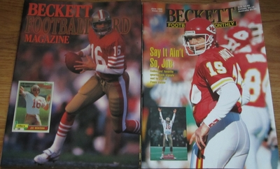 Lot of 2 Joe Montana Beckett Football Monthly magazines