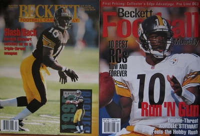 Lot of 2 Kordell Stewart Pittsburgh Steelers Beckett Football Monthly magazines