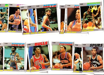 Lot of 23 1987-88 Fleer basketball cards (Isiah Thomas Adrian Dantley Artis Gilmore)