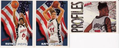 Lot of 3 1996 Topps U.S. Olympic Women's Basketball Team cards (Sheryl Swoopes)
