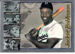 Lot of 3 Jackie Robinson cards (1991 Topps Archives 1996 Topps Chrome 2001 Upper Deck Hall of Famers)