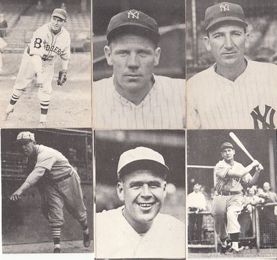 Lot of 6 1972 TCMA The 1930s cards (George Earnshaw Wild Bill Hallahan Red Rolfe)