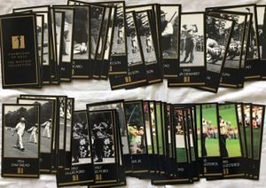 Lot of 59 Masters Champion golf cards Seve Ballesteros Ben Hogan Byron Nelson Gene Sarazen Sam Snead