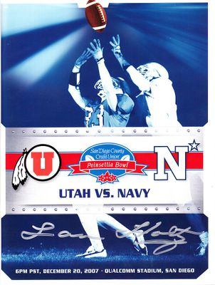 Lou Holtz autographed 2007 Poinsettia Bowl football game program