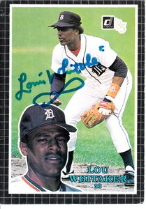 Lou Whitaker autographed Detroit Tigers 1985 Donruss All-Stars jumbo card