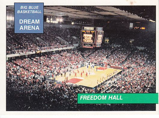 Louisville Cardinals Freedom Hall 1991 Big Blue basketball card