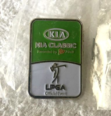 LPGA Kia Classic golf white and green pin