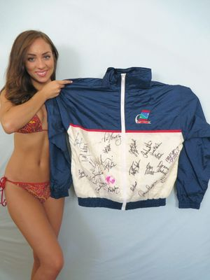 1996 LPGA Kraft Nabisco golf jacket autographed by 24 winners (Nancy Lopez Lorena Ochoa Annika Sorenstam Karrie Webb)