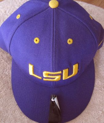 LSU Tigers purple Nike cap or hat NEW fitted size 7 3/8