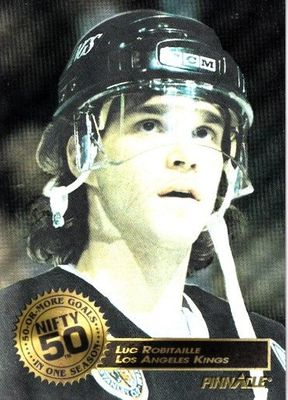 Luc Robitaille Los Angeles Kings 1993-94 Pinnacle Nifty 50 insert card
