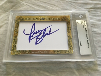 Lucas Black 2018 Leaf Masterpiece Cut Signature certified autograph card 1/1 JSA NCIS New Orleans