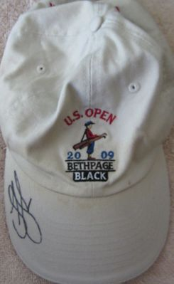 Lucas Glover autographed 2009 U.S. Open golf cap or hat