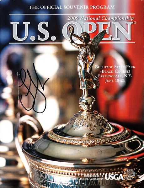 Lucas Glover autographed 2009 U.S. Open golf program