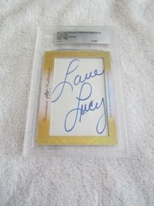 Lucille Ball 2017 Leaf Masterpiece Cut Signature certified autograph card 1/1 JSA