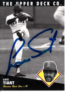 Luis Tiant autographed Boston Red Sox 1994 Upper Deck All-Time Heroes card (MLB authenticated)