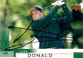 Luke Donald autographed 2002 Upper Deck Rookie Card
