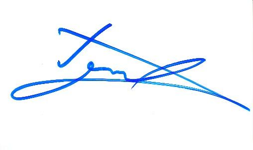 Luke Donald autographed blank back of business card