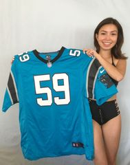 Luke Kuechly Carolina Panthers authentic Nike Game On Field replica blue size XL jersey NEW WITH TAGS