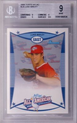 Luke (Lucas) Bailey 2008 AFLAC Bowman Rookie Card graded BGS 9 MINT