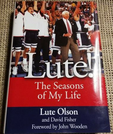 Lute Olson autographed The Seasons of My Life hardcover first edition book