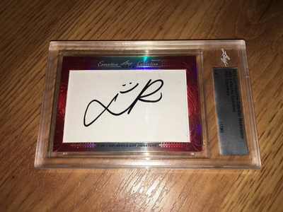 Lydia Ko and Annika Sorenstam 2016 Leaf Cut Signature certified autograph card 1/1 golf card JSA