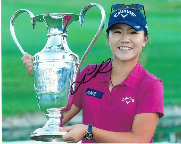 Lydia Ko autographed 2016 LPGA ANA Inspiration 8x10 photo