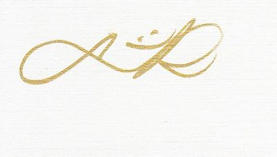 Lydia Ko autographed back of blank business card