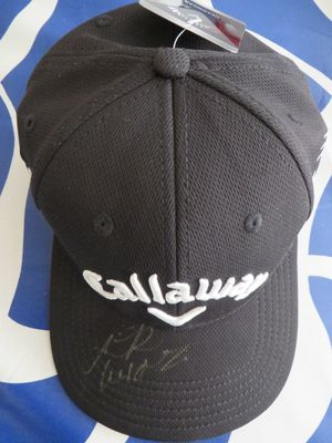 Lydia Ko autographed black Callaway golf cap or hat