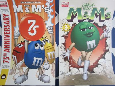 M&Ms 75th Anniversary set of 2 Marvel 2016 Comic-Con mini 13x20 posters