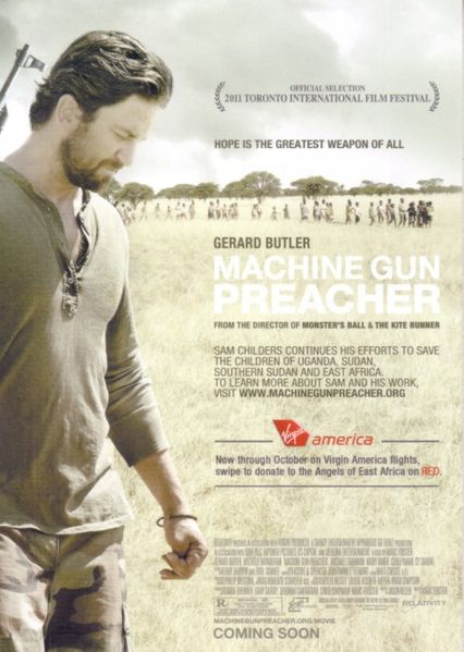 Machine Gun Preacher 2011 movie 5x7 promo card (Gerard Butler)
