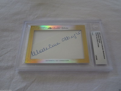 Madeleine Albright 2014 Leaf Masterpiece Cut Signature certified autograph card 1/1 JSA